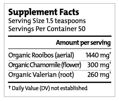 Sleep Well Tea Supplement Facts